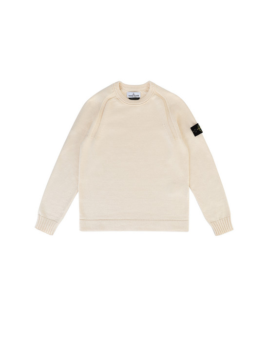 STONE ISLAND JUNIOR 508A2  Sweater Man Ivory
