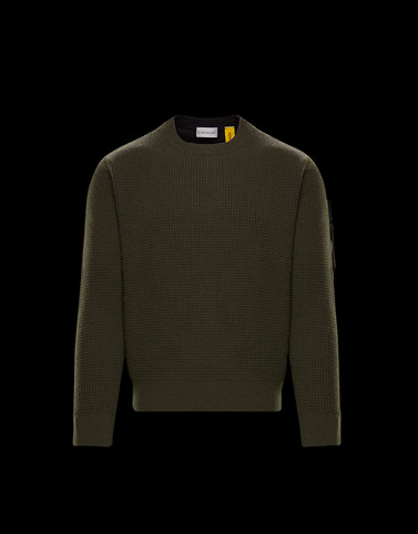 CREWNECK Military green Knitwear & Sweatshirts Man