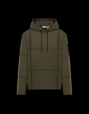 SWEATSHIRT Military green Sweatshirts Man