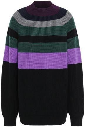 VICTORIA, VICTORIA BECKHAM Striped wool-blend sweater