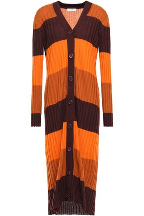 EQUIPMENT Verelle striped ribbed wool cardigan