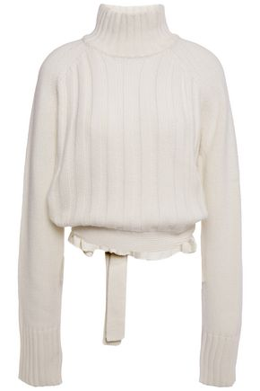 PROENZA SCHOULER Ribbed wool and cashmere-blend turtelneck sweater