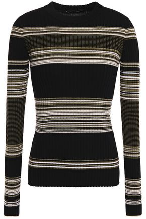 PROENZA SCHOULER Striped ribbed wool-blend sweater