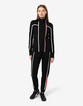 Scuderia Ferrari Online Store - Sweatjacke für Damen in Punto Milano-Jersey mit Reißverschluss - Pullover mit Reißverschluss