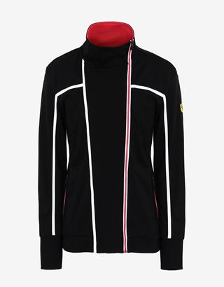 Scuderia Ferrari Online Store - Sweat-shirt zippé au point de Milan pour femme - Zip Jumper
