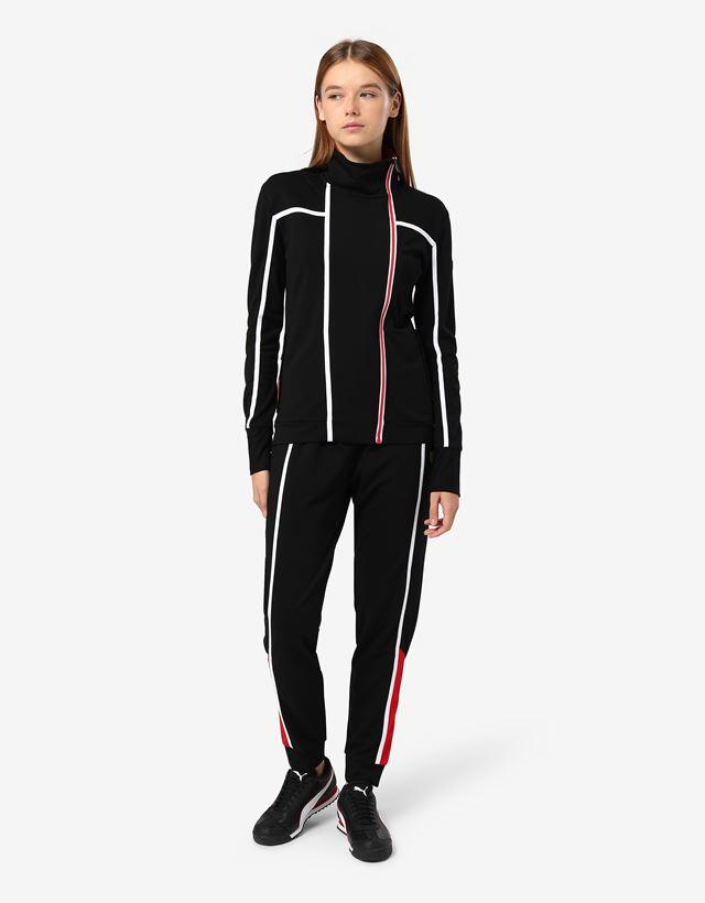 Scuderia Ferrari Online Store - 女士米兰针织拉链卫衣 - 拉链套衫