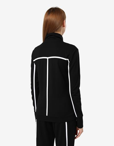 Women's sweatshirt in Milano rib with zip