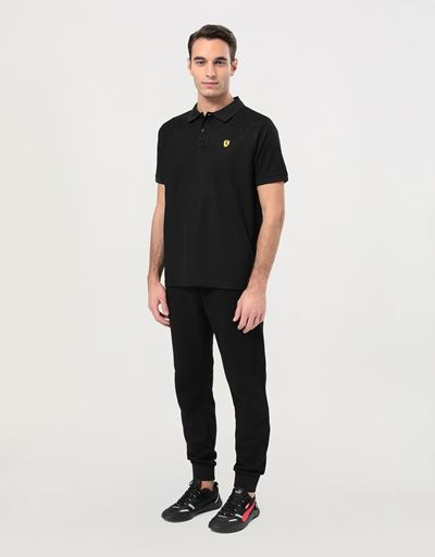 Men's polo shirt in technical pique with ergonomic seams