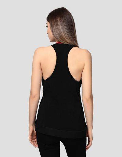 Women's jersey vest with rhinestones