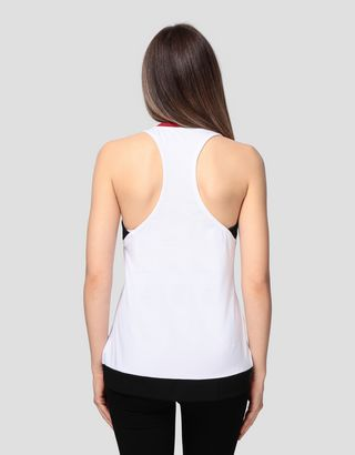 Scuderia Ferrari Online Store - Women's jersey tank top with rhinestones - Tank Tops