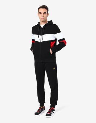 Scuderia Ferrari Online Store - Sweat-shirt homme avec empiècements contrastants - Pulls zippés à capuche