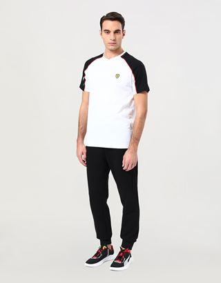 Scuderia Ferrari Online Store - T-shirt homme avec encolure en V - T-shirts à manches courtes