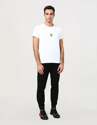 Men's cotton T-shirt with Ferrari Shield print