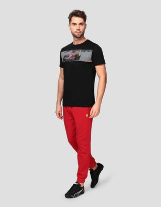 Scuderia Ferrari Online Store - Men's T-shirt with car print - Short Sleeve T-Shirts