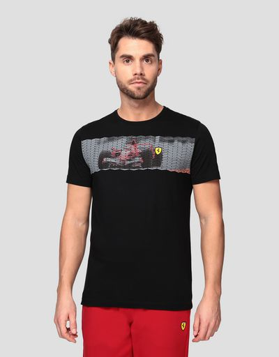 T-shirt uomo con stampa vettura