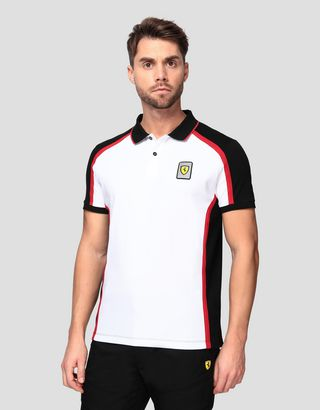 Scuderia Ferrari Online Store - Men's Infinity polo shirt in cotton piquet - Short Sleeve Polos