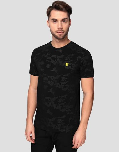 Men's T-shirt with camouflage print