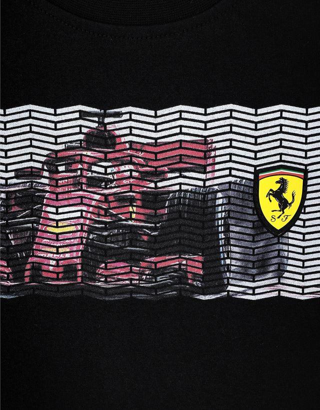 Scuderia Ferrari Online Store - Boys' T-shirt with mini-me vehicle print - Short Sleeve T-Shirts