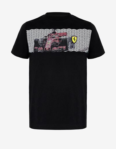 Boys' T-shirt with mini-me vehicle print