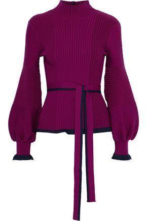 ROKSANDA Auric cutout ribbed merino wool sweater