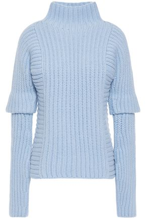 VICTORIA BECKHAM Ribbed wool and alpaca-blend turtleneck sweater