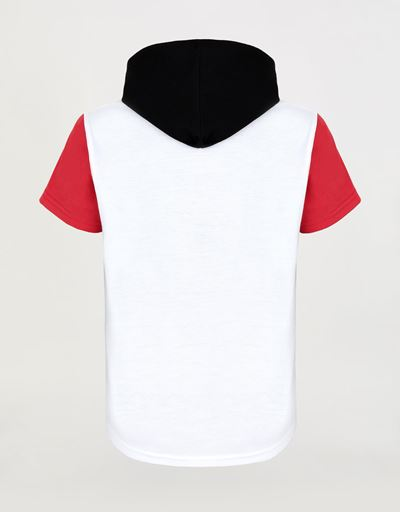 Boys' T-shirt with hood and historic car print