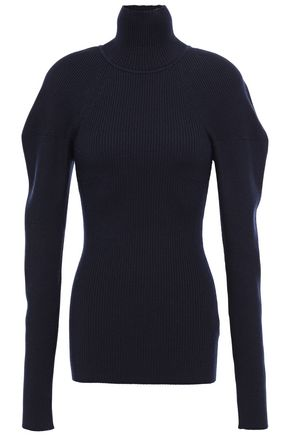 VICTORIA BECKHAM Ribbed-knit turtleneck sweater