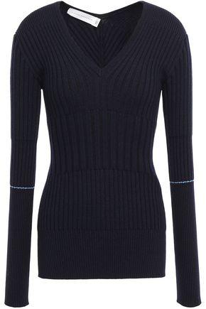 VICTORIA BECKHAM Ribbed cashmere-blend sweater