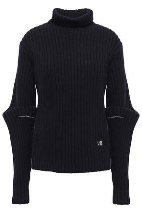 VICTORIA BECKHAM ロゴ付き ウール タートルネックセーター