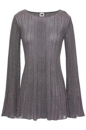 M MISSONI Metallic ribbed crochet-knit top