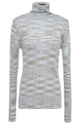 M MISSONI Ribbed crochet-knit wool-blend turtleneck sweater