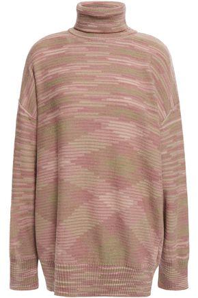 M MISSONI Oversized crochet-knit wool turtleneck sweater