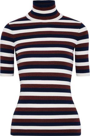 VICTORIA BECKHAM Striped wool-blend sweater