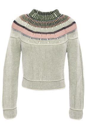 M MISSONI Striped ribbed wool sweater