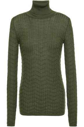 M MISSONI Ribbed wool-blend turtleneck sweater