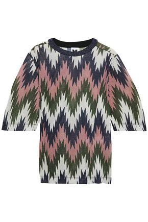 M MISSONI メタリック プリント ストレッチジャージー Tシャツ