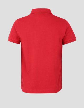 Scuderia Ferrari Online Store - 男童反光 Split Line 滚边棉质 Polo 衫 - 短袖 Polo 衫
