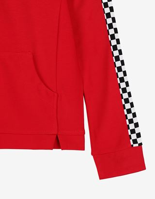 Scuderia Ferrari Online Store - Girls' crop top sweatshirt in Milano rib - Crew Neck Jumpers