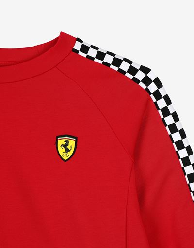 Scuderia Ferrari Online Store - Sweat-shirt fille court en point de Milan - Pulls à col rond