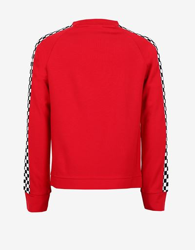 Girls' Milano rib cropped sweatshirt