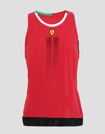 Scuderia Ferrari Online Store - レディースジャージータンクトップラインストーン付き - タンクトップ
