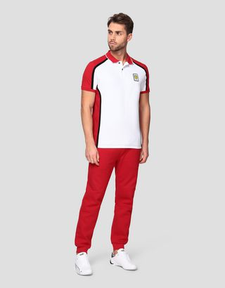 Scuderia Ferrari Online Store - Men's Infinity polo shirt in cotton pique - Short Sleeve Polos