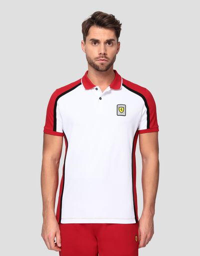 Men's Infinity polo shirt in cotton piquet