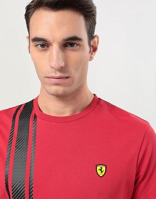 Scuderia Ferrari Online Store - Camiseta para hombre Racing con estampado de fibra de carbono - Camisetas de manga corta