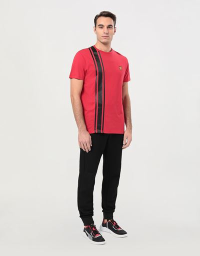 Men's Racing T-shirt with carbon fiber-effect print