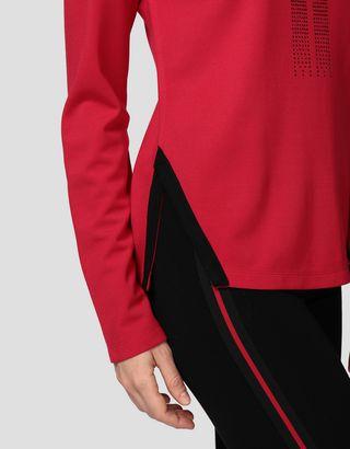 Scuderia Ferrari Online Store - Racing T-Shirt für Damen mit langen Ärmeln und Strass-Besatz - Langärmlige T-Shirts