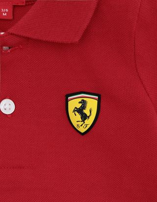 Scuderia Ferrari Online Store - Infant pique polo shirt with Italian flag - Short Sleeve Polos