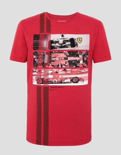 Scuderia Ferrari Online Store - メンズ 248 F1 レーシングカー 優勝サーキット Tシャツ - 半袖Tシャツ