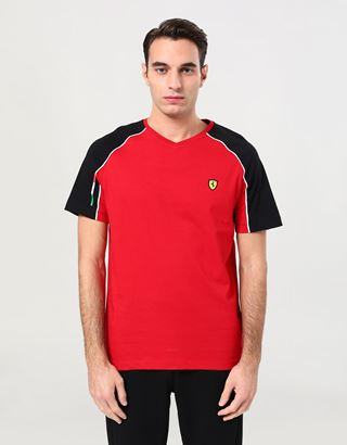 Scuderia Ferrari Online Store - Men's V neck T-shirt - Short Sleeve T-Shirts