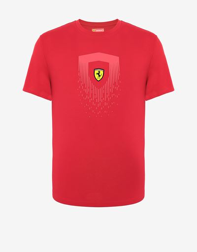 メンズ コットン Tシャツ Scudetto Ferrariプリント